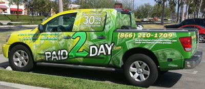 payday loan marketing graphic wrap