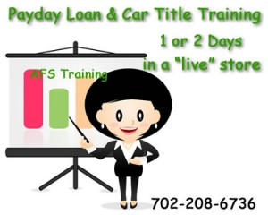 Woman-car-title-payday-loan-training