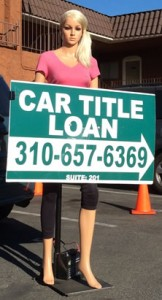 Car Title Loan Advertising Idea