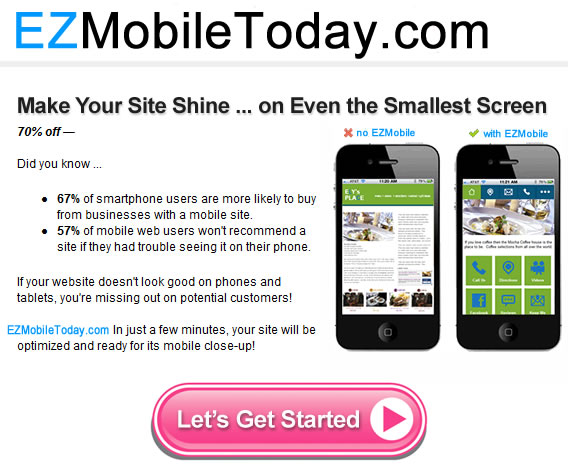 How does your site look on your customer's phone?