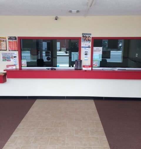 Interior of San Diego Payday Loan Store