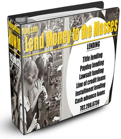 Payday Loans, Car Title Loans, installment loans, signature loans